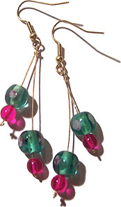Two Wire Drop Earrings