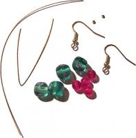 Two Wire Drop Earrings Materials